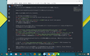 CrostiniでVSCodeとfcitx-mozcで記事を書いてます。